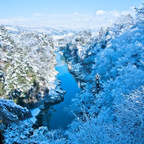 天龍峡冬景色